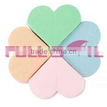 heart shape latex cosmetic sponge set 8pcs set