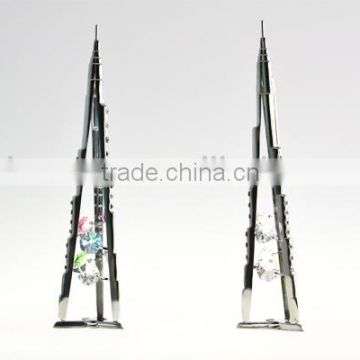 Chromed Plated Dubai Burj Khalifa Stand With crystals from swarovski