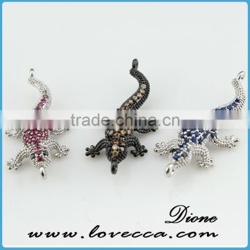 wholesale elegant copper dinosaur pendant with micropave setting pendant jewelry
