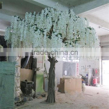 SJ201710036 China manufacturer huge artificial white pudding flower blossom tree