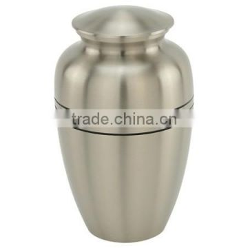 Classic Pewter Triple Band Cremation Urn