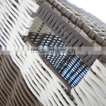 Plastic material cheap pp woven baskets with lids