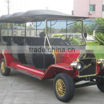 Luxury battery operated passenger electric vintage tourist bus retro car