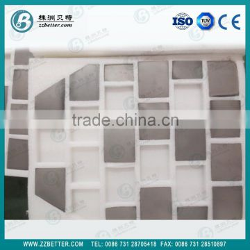 square 50*50mm SIC ceramic bulletproof plate for personnel security