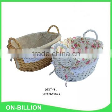 Natural wicker material international gift baskets