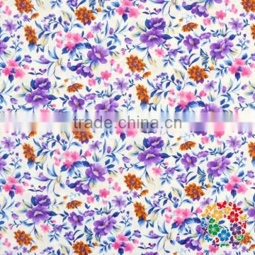 Cotton Printed Small Blue Flower fabrics for kids Outfit