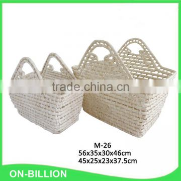Wholesale corn husk cheap handmade natural straw bag