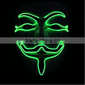 wholesale EL party led mask pvc led facial Halloween mask