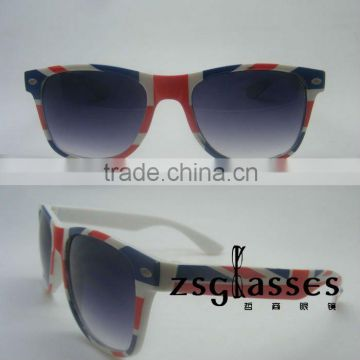 2012Cheap England flag style sports sunglasses/custom made sunglasses