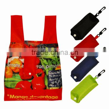 hot sale rip-stop reusable foldable polyester shopping bag                                                                                                         Supplier's Choice