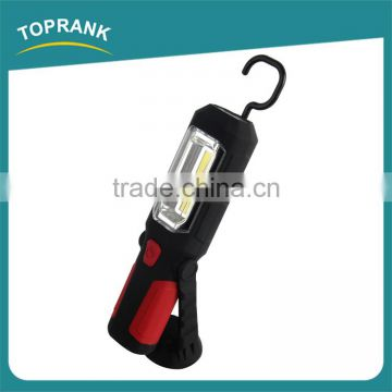 New design portable emergency magnetic led cob work light with hook
