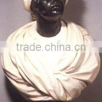 Custom African style hand carved sculpture marble bust for sale