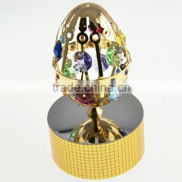 Beautiful Gold Plated Metal Easter Egg with crystals from swarovski