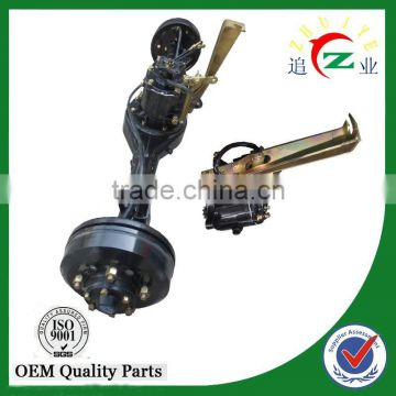 Chinese supplier hot Tricycle hydraulic brake full floating rear axle, ATV and trike rear arxle