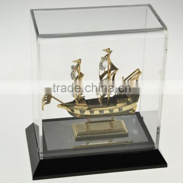 Gold Plated Decorative Sailing Ship with crystals from swarovski
