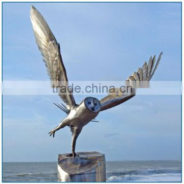 Modern Large Eagle Stainless Steel Sculpture