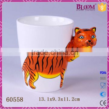 Personalized tiger desgin custom porcelain mug