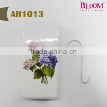 "Factory price ceramic humidifier with metal ""S"" hook"