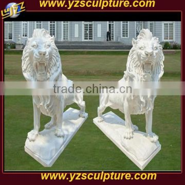 Western Outdoor Life Size Carving Marble Lion Statue