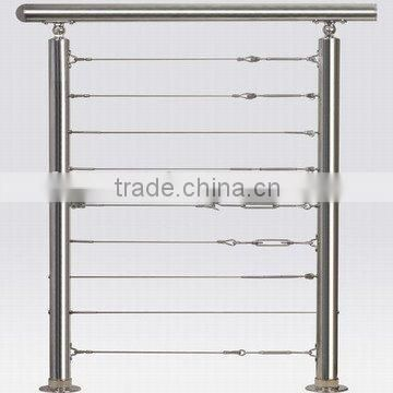 Stainless steel cable fitting/wire balustrade