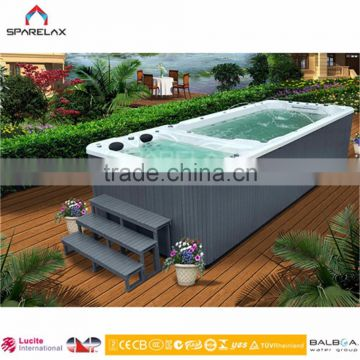 Europe Luxury Acrylic 6 Meter Endless Swimming Pool Spa outdoor Spa Pool/Swimming Spa
