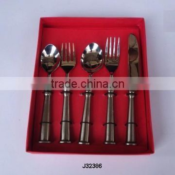 Brass Cutlery set in mat crome finish other styles available and Cylindrical handle