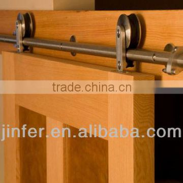 Stainless Steel modern wood sliding barn door classic bar track SD0213500