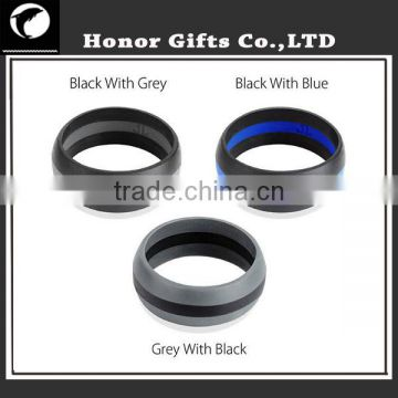 Factory Price Food Grade High Quality Silicone Wedding Bands For Men