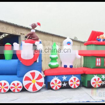 Best Selling Products Inflatable Christmas Train Santa Claus Wholesale Christmas Train Decoration Snowman On Sale