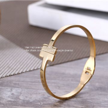 Gold Rose Gold Silver Vacuum PVD Plating 316L Stainless Steel Bracelets Bangles Armbånd For Men Womens