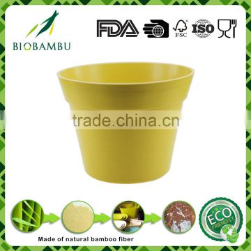 Wholesale reusable environmental Bamboo Fiber Garden Flower Pot