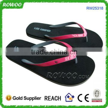 Two Tone Promotional EVA Slipper Flip Flops Beach Lady Sandals