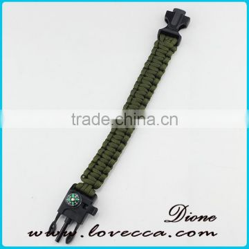 Paracord Bracelet Survival Gear Kit with Embedded Compass, Fire Starter, Emergency Knife & Whistle Survival Bracelet