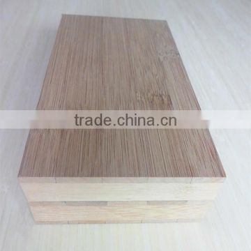 Carbonized vertical bamboo laminated plywood board
