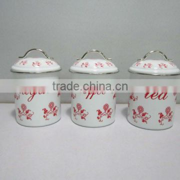 Cylinder Tea can Storage tin