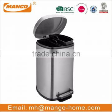 30 Liter Oval Foot Pedal Metal recycling waste bin
