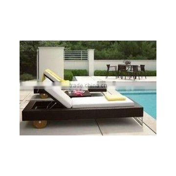 simple leisure outdoor modern wicker sofa bed ,rattan