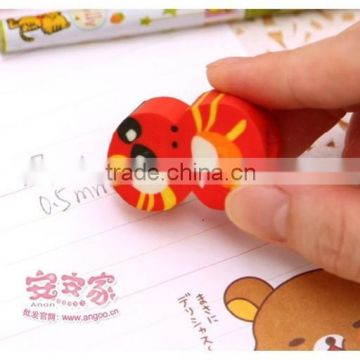 Korea stationery wooden pencil , cute pencil with eraser