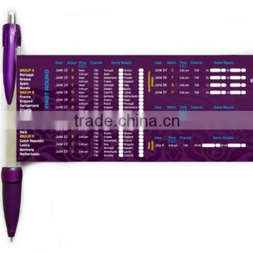 Promotional advertising banner pen , retractable banner pen