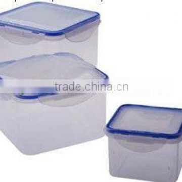 kitchen plastic 3 in 1 square food storage container set
