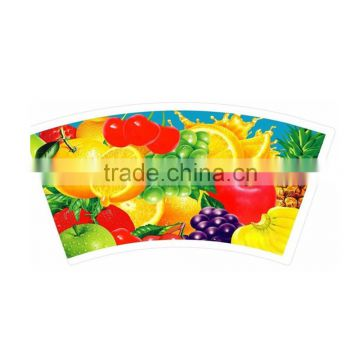 Customized printed paper cup fan paper cup raw material price