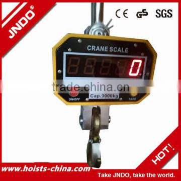 3t LED display large screen board wireless hanging crane scale