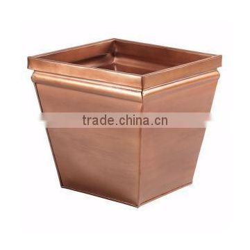 square large copper party decoration planters pots
