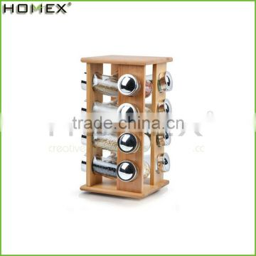 High Quality Waterproof Kitchen Natural Bamboo Spice Rack/Homex_Factory