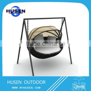 New design outdoor wicker cheap bed
