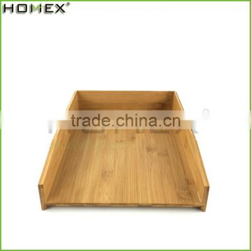 Bamboo letter tray/ a4 paper storage box Homex-BSCI