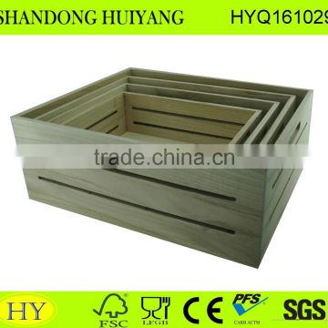 paulownia hot selling cheap wooden package tray
