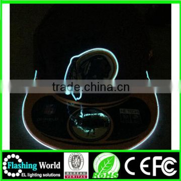 beautiful in colour elegant appearance custom electroluminescent el wire hats