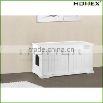 Wooden Durable White Cat House Pet Furniture Homex_BSCI Factory