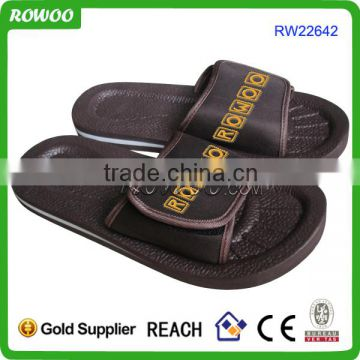 Five finger embossed slippers Black EVA slipper Men Custom fashion rubber slippers